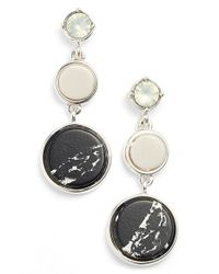 Anne Klein | Black Triple Drop Earrings | Lyst
