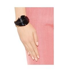 Marni - Black Embellished Leather Bracelet - Lyst