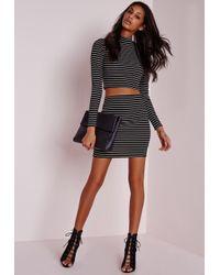 Missguided - Crochet Knitted Long Tasselled Vest Black - Lyst