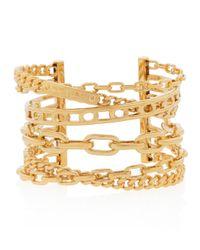 Henri Bendel | Metallic Deb Link Statement Cuff Bracelet | Lyst