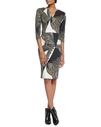Etro - Multicolor Chain Paisley Knit Jersey Dress - Lyst