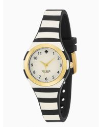 kate spade new york | Black Stripe Rumsey Watch | Lyst
