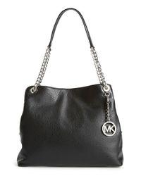MICHAEL Michael Kors Black 'large Jet Set' Chain Shoulder Bag