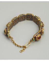 Amrapali - Metallic Navratan and Gold Painted Setting Bracelet - Lyst
