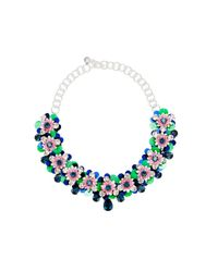 Shourouk | Black Silver-tone, Crystal And Sequin Necklace | Lyst