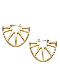 Trina Turk | Metallic Sunburst Drop Earrings | Lyst