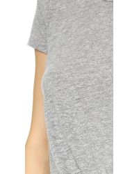 Stateside - Gray Twist Front Tee - Lyst