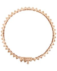Eddie Borgo | Metallic Rose Goldplated Pyramid Tennis Bracelet | Lyst