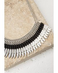 Forever 21 - Metallic Feather Fringe Statement Necklace - Lyst