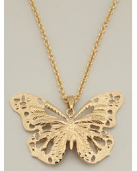 Alexander McQueen - Metallic Butterfly Necklace - Lyst