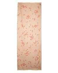 Bottega Veneta | Natural Butterfly-Print Cashmere Scarf | Lyst