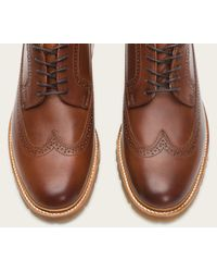 Frye - Brown James Lug Wingtip for Men - Lyst
