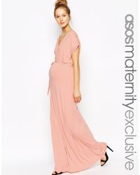 ASOS - Pink Drape Maxi Dress - Lyst