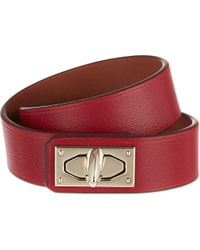 Givenchy - Purple Two-row Shark Lock Calfskin Cuff - Lyst