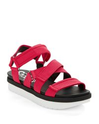 Circus by Sam Edelman | Red Rockaway Flatform Sandals | Lyst