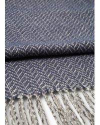 Mango - Blue Herringbone Scarf for Men - Lyst