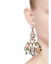 J.Crew | Multicolor Crystal Lace Earrings | Lyst