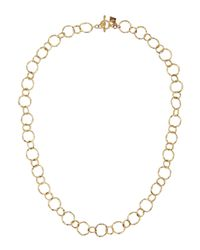 Armenta | Metallic 18k Yellow Gold Circle Link Necklace | Lyst