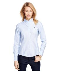Brooks Brothers | Blue Petite Non-iron Tailored Fit Supima® Cotton Dress Shirt | Lyst