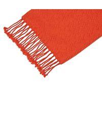 Hobbs | Orange Darcy Weave Scarf | Lyst