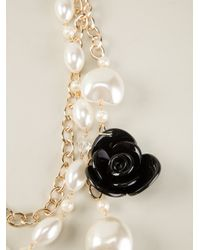 Edward Achour Paris - Metallic Floral Pearl Necklace - Lyst
