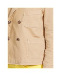 Polo Ralph Lauren - Natural Double-breasted Twill Jacket - Lyst