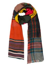 Pierre Louis Mascia - Multicolor Mixed Print Scarf - Lyst