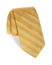 Robert Talbott | Metallic Stripe Silk & Cotton Tie for Men | Lyst