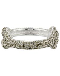 Vivienne Westwood - Black Bone Bangle Bracelet - Lyst
