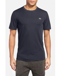 Lacoste | Blue L!ve Pique Performance Crewneck T-shirt for Men | Lyst