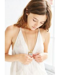 Urban Outfitters | Metallic Crystal Alps Pendant Necklace | Lyst
