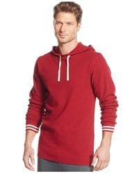 Polo Ralph Lauren | Red Men's Solid Raglan Waffle Thermal Hoodie for Men | Lyst