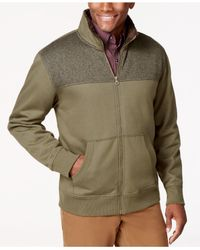 Weatherproof | Green Vintage Zip-front Sweater Jacket for Men | Lyst