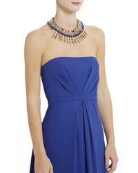 BCBGMAXAZRIA   Blue Woven Tribal Spiked Necklace   Lyst