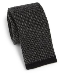 Saks Fifth Avenue | Black Cashmere Knit Tie for Men | Lyst