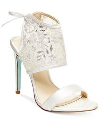 Betsey Johnson | White Blue By Sloan Evening Sandals | Lyst