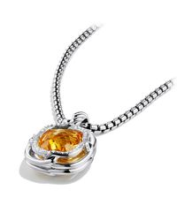 David Yurman - Yellow Labyrinth Small Pendant With Diamonds - Lyst