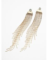 Free People | Metallic Womens Skyfall Shoulder Dusters | Lyst