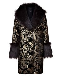 Anna Sui - Metallic Black And Gold Jacket - Lyst
