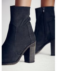 Free People | Black Night Vision Heel Boot | Lyst