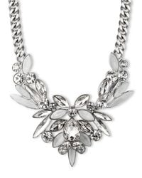 Givenchy - Metallic Clustered Stone Collar Necklace - Lyst