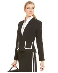 Jones New York - Black Collection Patch-pocket Trim Blazer - Lyst