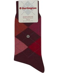 Smythson - Red Marylebone Argyle Socks - Lyst