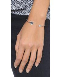 Tai - Metallic Asymmetrical Pave Bracelet - Moonstone/Silver - Lyst