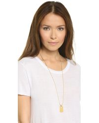 Rebecca Minkoff | Metallic Military Mix Dog Tag Necklace - Gold | Lyst