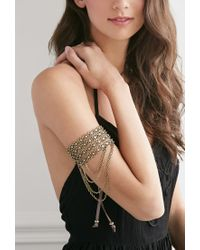 Forever 21 - Metallic Beaded Chain Arm Band - Lyst