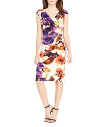 Ralph Lauren - Multicolor Lauren Floral Matte Jersey Dress - Lyst