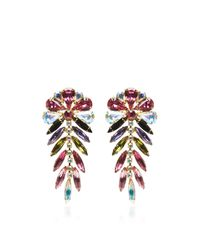Carole Tanenbaum | Purple Signed Dimartino Originals Multi-colored Rhinestone Earrings | Lyst