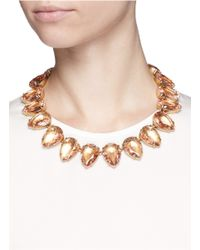 J.Crew - Pink Teardrop Necklace - Lyst