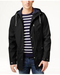 Izod | Black Men's Hooded Boating Jacket for Men | Lyst